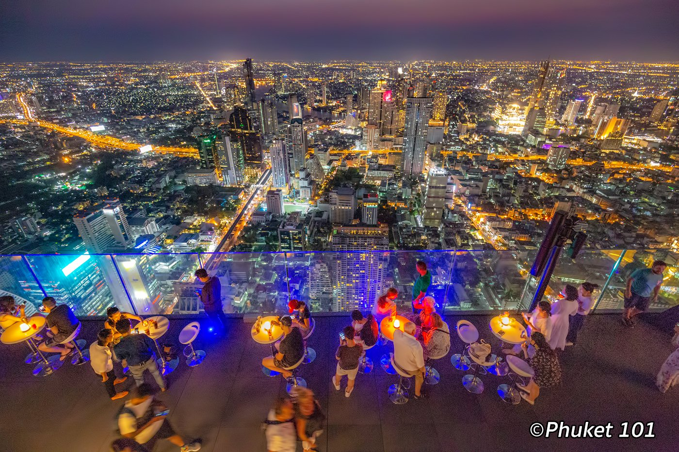 Mahanakorn Skywalk Rooftop Bar in Bangkok