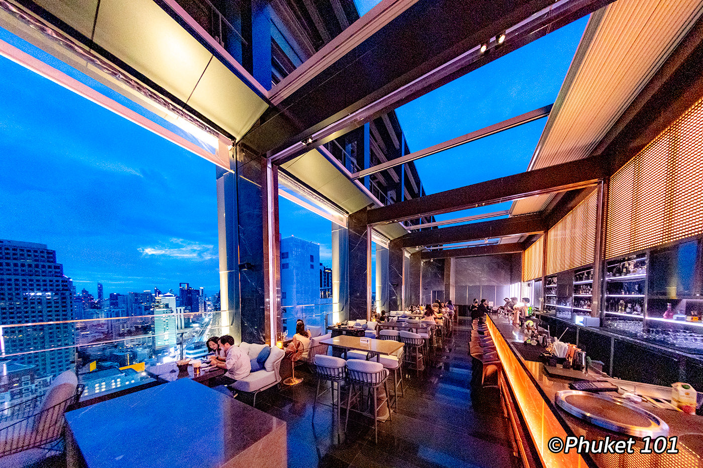 Cooling Tower Rooftop Bar at Carlton Hotel Bangkok Sukhumvit