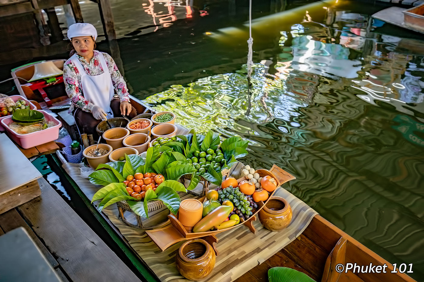 Taling Chan Floating Market near Bangkok